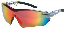 MSA Racers védőszemüveg, lövész szemüveg  vörös szivárványszínű tükörbevonatú lencsével 12 db-os csomagban