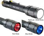 Peli 2370 2AA taktikai LED lámpa + (night vision) piros, kék átkapcsolási lehetőség 106 lm