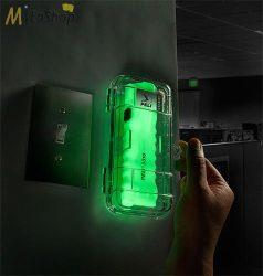 Peli 3310ELS Vészhelyzeti LED lámpa falra szerelhető dobozban, fluoreszkáló testtel 378 lm