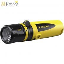 LED LENSER EX7R akkumulátoros, tölthető robbanásbiztos ATEX lámpa zóna 1/21, - 220 lm