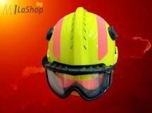 MSA F2 X-TREM műszaki mentő sisak/tűzoltósisak - egyedi felszereltséggel, jólláthatósági sárga