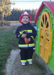 Gyermek tűzoltó ruha szett (kabát+nadrág) - több méretben