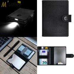 LEDLENSER bőr pénztárca/kártyatartó(RFID védelemmel)/150 lumenes lámpa - több színben