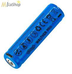Walther ICR 18650 LI-ION Akku USB porttal 2600 mAh