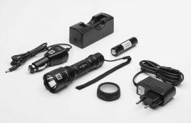 Mactronic BLACK EYE 420 újratölthető, CREE LED-es alumínium lámpa 420 lm