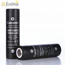 KeepPower 18650 3,7V 3000mAh 20A védett Li-ion nagyáramú akkumulátor e-cigarettához