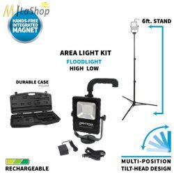 Nightstick akkumulátoros térvilágító lámpa mágneses talppal, állvánnyal, hordtáskával (állvánnyal és  állvány nélkül is használható) - 1000 lm