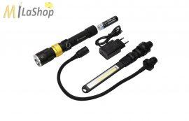 Mactronic többfunkciós (cserélhető fejű) akkumulátoros, LED + UV munkalámpa 250lm