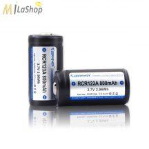 KeepPower CR123 3,7V 800mAh Li-ion akkumulátor védelemmel 2 db-os csomagolásban