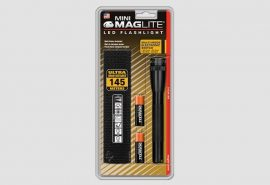 Mini Maglite LED 2AA  lámpa, fekete (bliszteres) 77 lm
