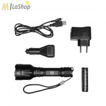 Mactronic BLACK EYE 780 újratölthető (USB portról tölthető), CREE LED-es alumínium lámpa 780 lm