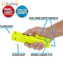 Nightstick robbanásbiztos (ATEX) Dual-Light ™ kettős fényű kézilámpa - dupla mágneses rögzítési lehetőséggel - 120/120 lm