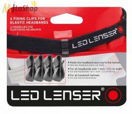 Sisakrögzítő klipsz Led Lenser H6-7, SEO, MH2-6, H7.2/H7R.2 fejlámpához 4 db